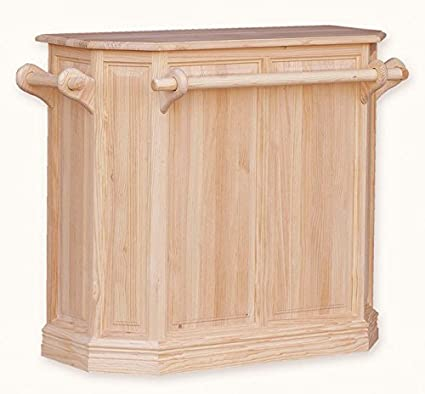 Muebles Natural - Barra de Bar para personalizar, en madera de pino ...