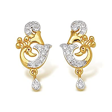 bfe18c1ab6b71 Buy Nishtaa 22K Yellow Gold Drop Earrings Online at Low Prices in ...