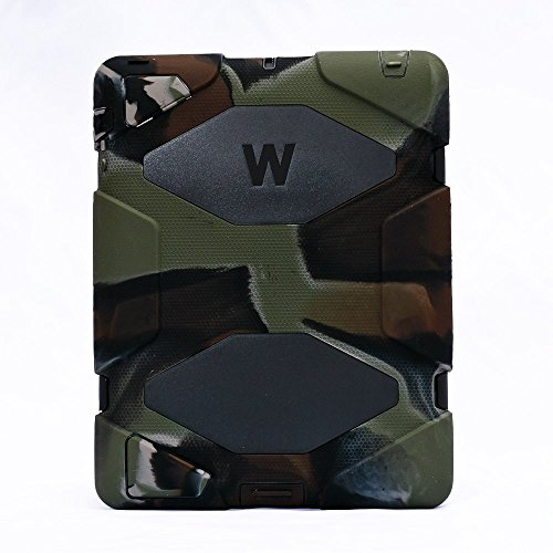 ipad 2/3/4 case,kidspr ipad case *NEW* *HOT* Super Protect[shockproof] [rainproof] [sandproof] with Built-in Screen Protector for Apple iPad 2/3/4,2015 new style for ipad 2/3/4 (Camouflage black)