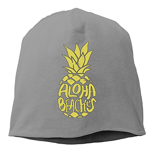 Rdiep Aloha Beaches Pineapple Gym Unisex Stretch Beanie Skull Cap Knit Hat For Men Women DeepHeather Winter (Interlude 1 Light)