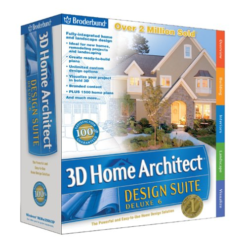 3d home architect design deluxe 8. Broderbund 3D Home Architect Design Suite Deluxe 6  OLD VERSION Amazon Com