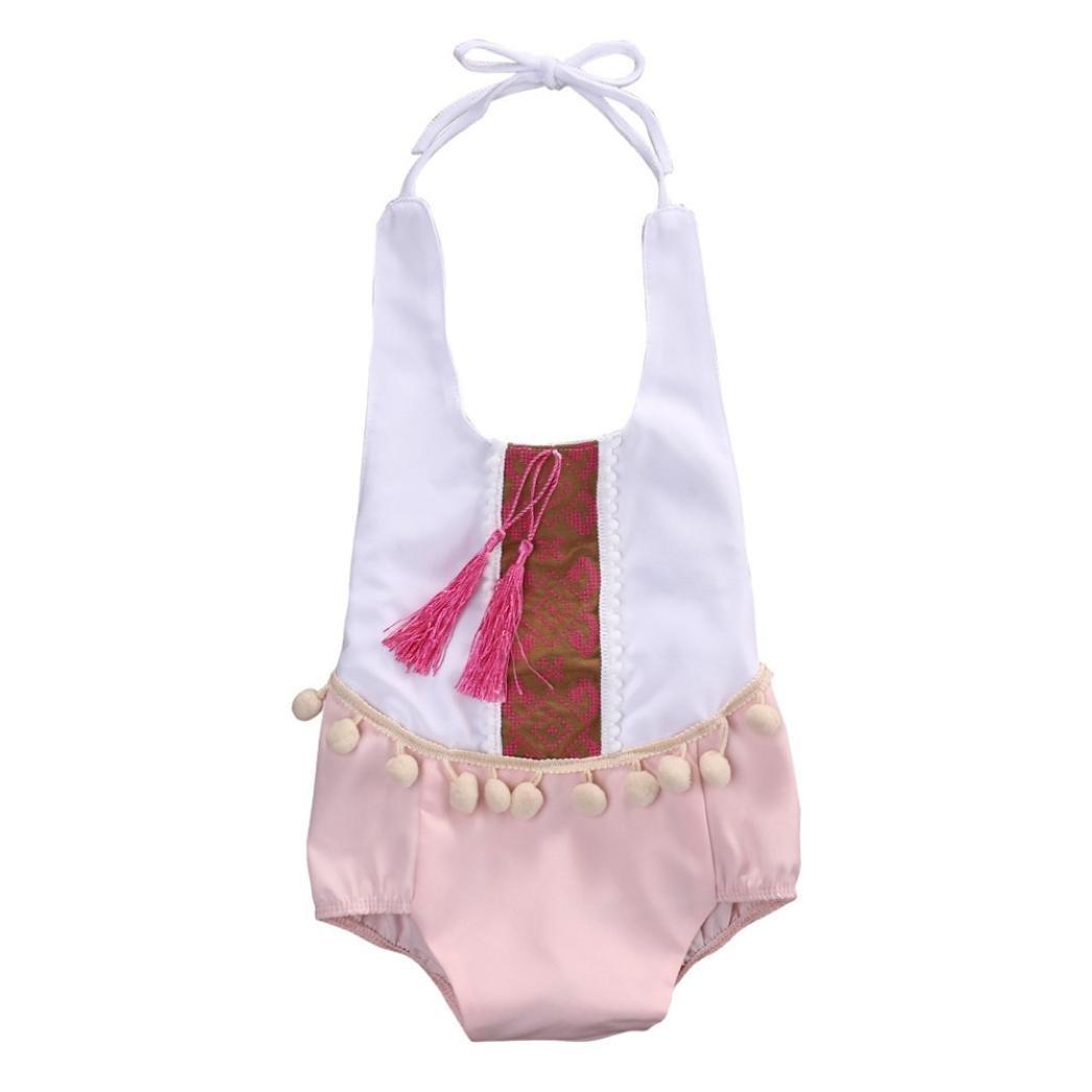 SMARTLADY Body Niña Bebé Haltar de Estilo de Vestido de Algodón DF4