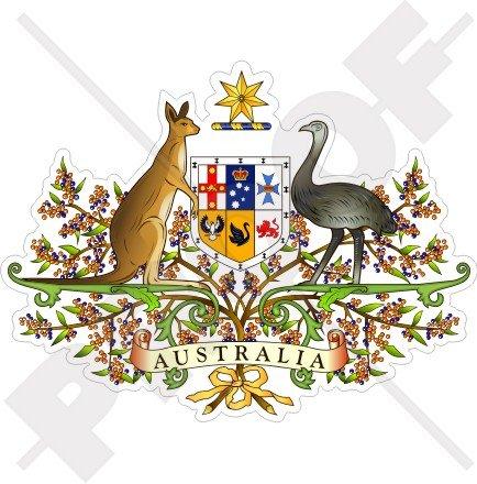 - AUSTRALIA Australian Coat of Arms, National Emblem Badge Crest 112mm (4.4