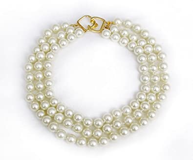 Kenneth Jay Lane White Pearl Necklace Pearl vf0d9XJ
