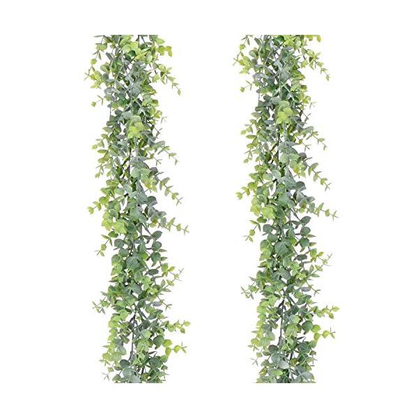 Color Verde decoraci/ón de 40 cm Fiesta Planta Artificial Colgante para decoraci/ón de Pared Topdo Plantas Artificiales para jard/ín Oficina Boda