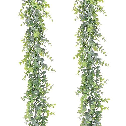 🥇 YQing 2 Piezas Eucalipto Artificial Guirnalda