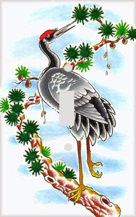 Crane in Tree Decorative Switchplate (Crane Switchplate)