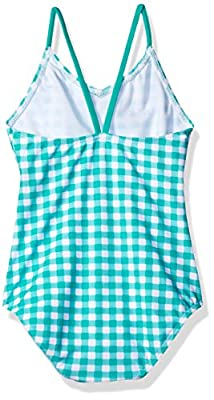 Kanu Surf Girls' Lilly Check 1-Pc Swimsuit