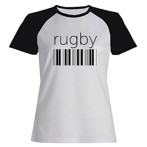 Idakoos Rugby barcode - Sport - Maglietta Raglan Donna