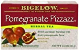 Bigelow Pomegranate Pizzazz Herbal Tea 20-Count Boxes (Pack of 6) Caffeine-Free Individual Herbal Tisane Bags, for Hot Tea or Iced Tea, Drink Plain or Sweetened with Honey or Sugar