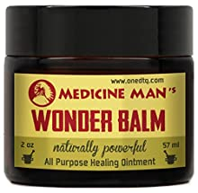 Medicine Man's All Purpose Wonder Balm formula contains natural antifungal and antimicrobial properties that efficiently control itching and inflammation on your face, body, feet, hands, scalp, finger nails, toenails and heels. High doses of ...