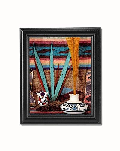 Pottery American Native Southwestern (Southwestern Native American Indian Pottery #3 Black Framed 8x10 Art Print)