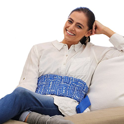 UPC 731123629761, Heat Therapy Pack – Everywhere Wrap – Scented Heating Pads - for Lower Back, Menstrual Cramps, Knee Strap Soothing Pain & Tension by HTP Relief (Blue)