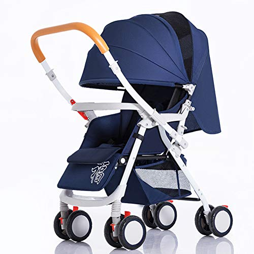 Lightweight Stroller with 5-Point Safety System and Multi-Positon Reclining Seat, Extended Canopy, Easy One Hand Fold, Large Storage Basket, Parent and Child Tray