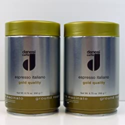 Danesi Caffe Espresso Italiano Gold Coffee Ground - 8.75 oz tin (Ground 2 x tin 8.8oz)