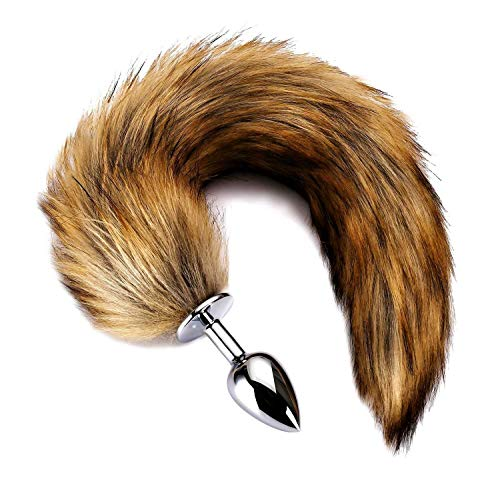 Fox Tail Plug Women Cosplay Costume Accessories (Brown1) ()