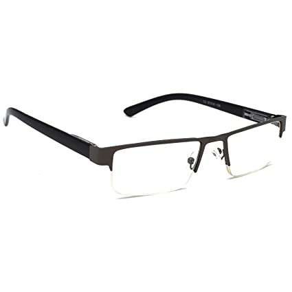 5983481d4669 HRINKAR Rectangle Half Rim Portable Reading Glasses For Men And Women  (Grey