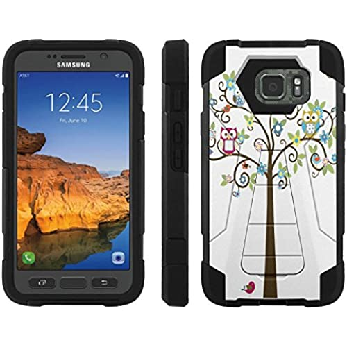 AT&T [Galaxy S7 Active] ShockProof Case [ArmorXtreme] [Black/Black] Hybrid Defender [Kickstand] - [Owl Tree] for Samsung Galaxy [S7 Active] Sales