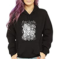 CaliDesign Women's Only God Can Judge Me Hoodie Mexican Tattoo Art Low Rider