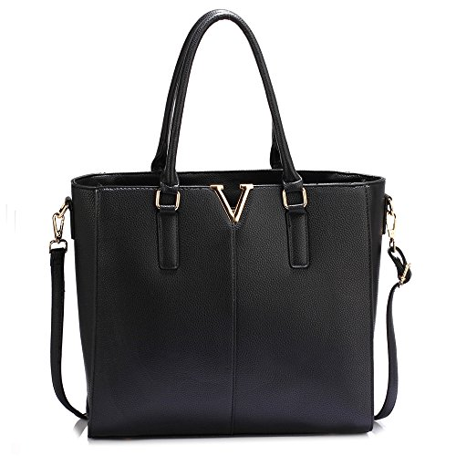 UK Save 50 Handbag Design Black FREE DELIVERY Tote Gorgeous Split zqF8FY