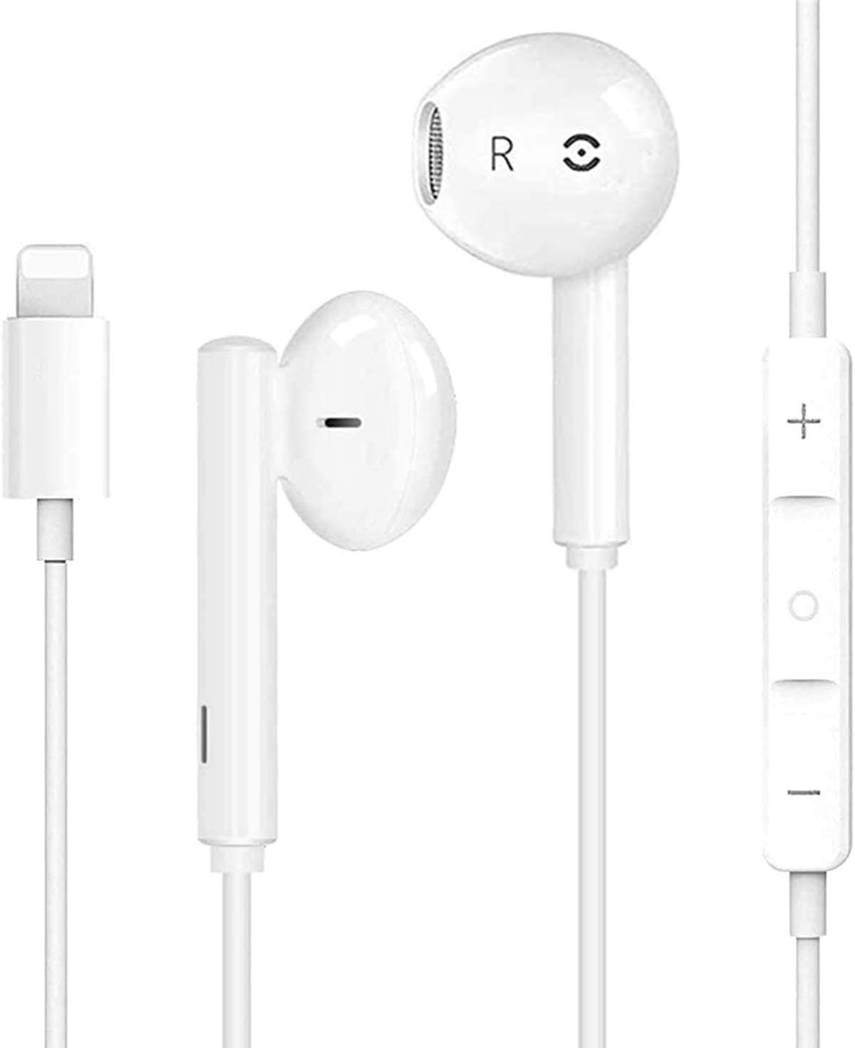 Headphones Earbuds Wired Headphones Noise Isolating Earphones Built-in Microphone and Volume Control and Noise Cancellation Compatible with iPhone/iPad/iPod/Remote Controls