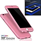Sufang Phone Protection Case Hybrid Tempered Glass + Acrylic Hard Case Cover For iPhone 7/7Plus/6/6s/6 Plus Rose gold iPhone 7 Plus