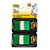 Post-it Flags - Marking Flags in Dispensers, Green, 50 Flags/Dispenser, 12 Dispensers/Pack 680-GN12 (DMi BX