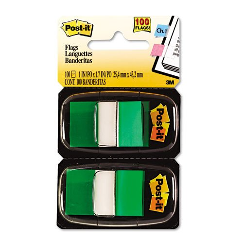 Post-it Flags - Marking Flags in Dispensers, Green, 50 Flags/Dispenser, 12 Dispensers/Pack 680-GN12 (DMi BX by Post-it