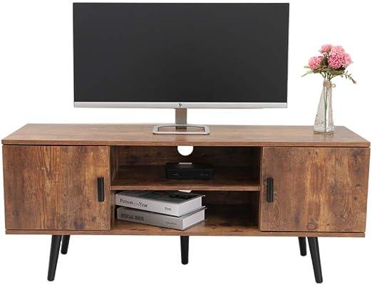 IWELL DSG001X - Soporte de TV de medio siglo para sala de estar, consola de TV, consola