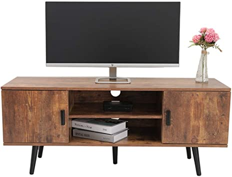 Amazon Com Iwell Mid Century Modern Tv Stand For Living Room Tv Console Storage Cabinet Retro Home Media Entertainment Center For Flat Screen Tv Cable Box Gaming Consoles In Entertainment Room Office Dsg001x Furniture