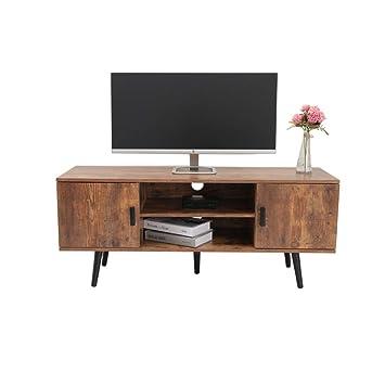 Amazon.com: Iwell Mid-Century - Mueble de TV para sala de ...