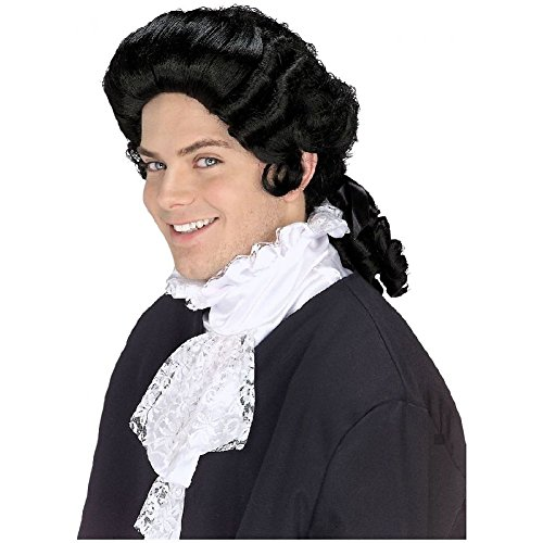 18th Century Costume Ball (Colonial Wigs Adult Mens 18th Century Costume Fancy Dress)