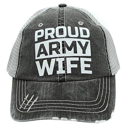 r2n fashions Women's Military Army Wife Trucker Hats Caps - Army Life Wife