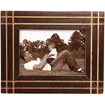 Amazon.com - Double Photo Picture Frame - Wood Two Photo Frame for ...