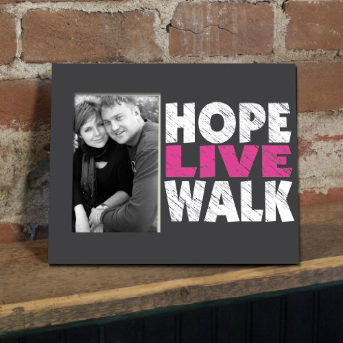 VictoryStore Gift Frame - Breast Cancer Awareness Picture Frame #4 - Hope Live Walk - Holds 4