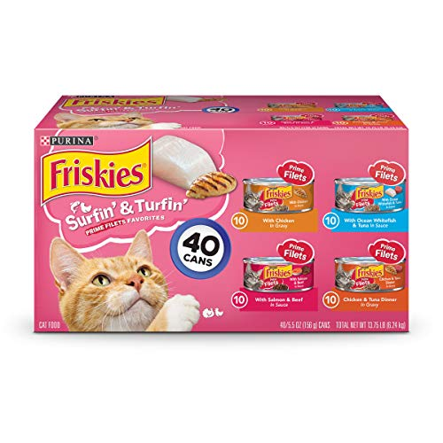 (Purina Friskies Surfin' & Turfin' Favorites Wet Cat Food Variety Pack - (40) 5.5 Oz. Cans)