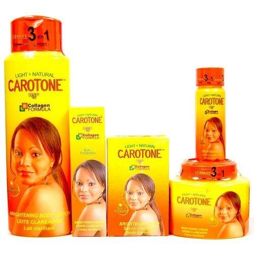 Carotone Light & Natural Brightening SET (5-PACK)Lotion, Cream, Tube, Oil, Soap ()