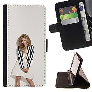 Momo Phone Case / Flip Funda de Cuero Case Cover - Sexy Rubia;;;;;;;; - Samsung Galaxy S6 EDGE