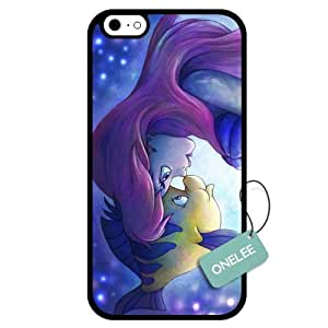 Onelee(TM) - Customized Disney Princess The Little Mermaid TPU Case Cover for Apple iPhone 6 - Black 01