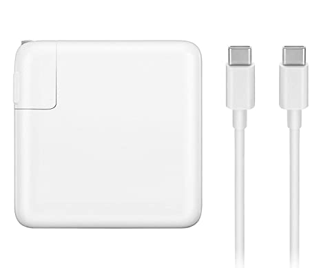 Amazon.com: Cargador de repuesto para MacBook Pro, 61 W USB ...