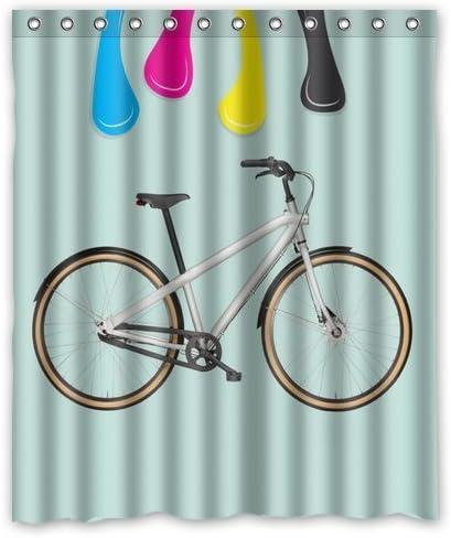 Bicicleta de miel día cortina de ducha impermeable 72 x 72 de ...
