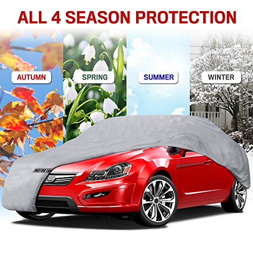 "Motor Trend 4-Layer 4-Season (Waterproof Outdoor UV Protection for Heavy Duty Use Full Cover for Cars up to 190"")"