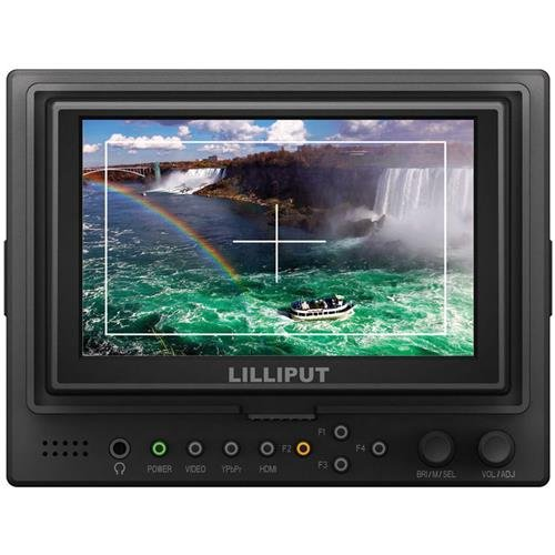 Lilliput 569HO001 5 In. LCD Video HD Field Monitor On Camera HDMI Ypbpr Input And Output 569GL-50NP-HO-Y B007N6SK24