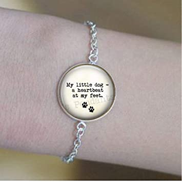 Amazoncom Dog Lover Bracelets My Little Dog A Heartbeat At My