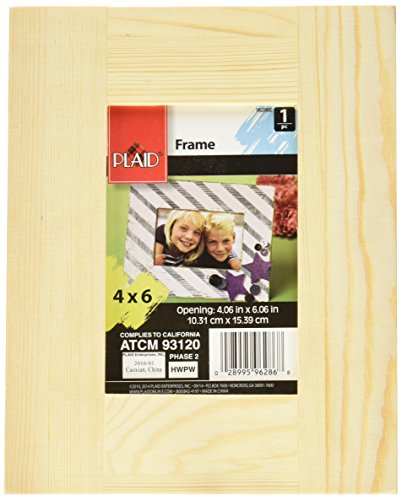 Plaid Wood Frame with Easel Back, 96286