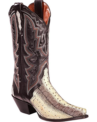 Dan Post Womens Natural Water Snake Triade Cowgirl Laars Knip Toe Teen - Dps398 Natural