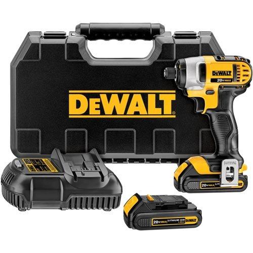 DEWALT DCF885C2 20-Volt MAX Lithium Ion 1/4-Inch 1.5 Ah Impact Driver Kit