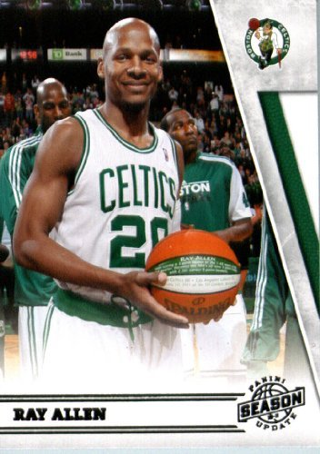 2010/11 Panini Season Update Basketball Card # 192 Ray Allen Boston Celtics In a Protective Screwdown Display Case !