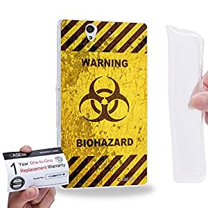 Case88 [Sony Xperia Z] Gel TPU Carcasa/Funda & Tarjeta de garantía - Art Fashion Biohazard Humor Assorted Art1821