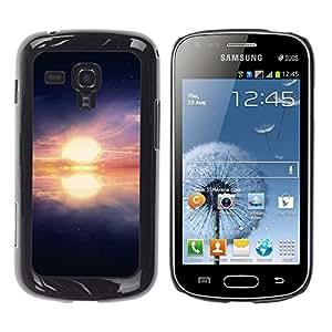 Paccase / SLIM PC / Aliminium Casa Carcasa Funda Case Cover - Ocean explore Sunset - Samsung Galaxy S Duos S7562